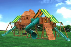 Tricked Out Swing Set