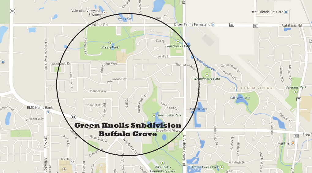 Homes for Sale in Green Knolls Subdivision, Buffalo Grove IL
